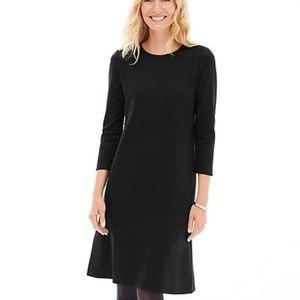 J Jill Ponte Knit Seamed 3/4-Sleeve Dress